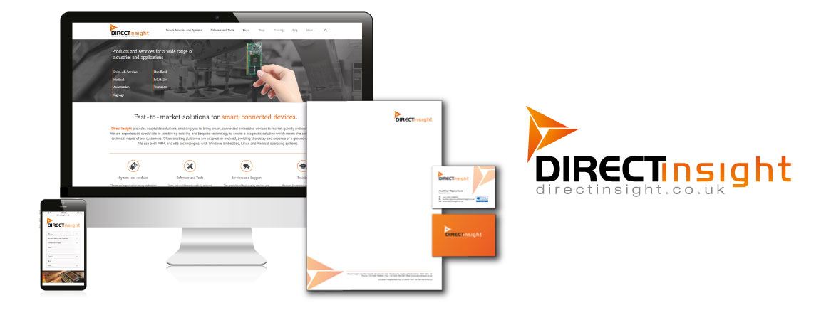 Direct insight website design logo and print thomas for Direct from the designers